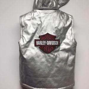 HARLEY DAVIDSON Women Silver Vest w Hood S7